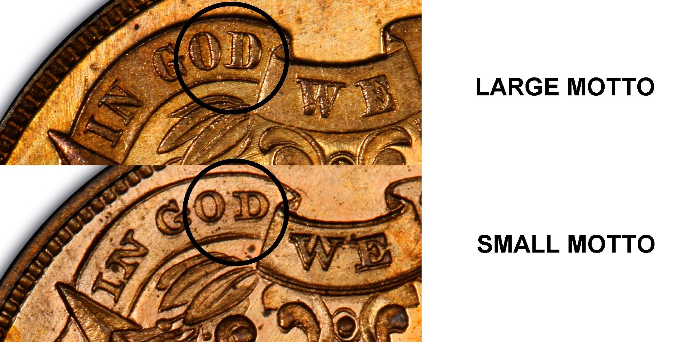 1864 two cent piece--LARGE MOTTO