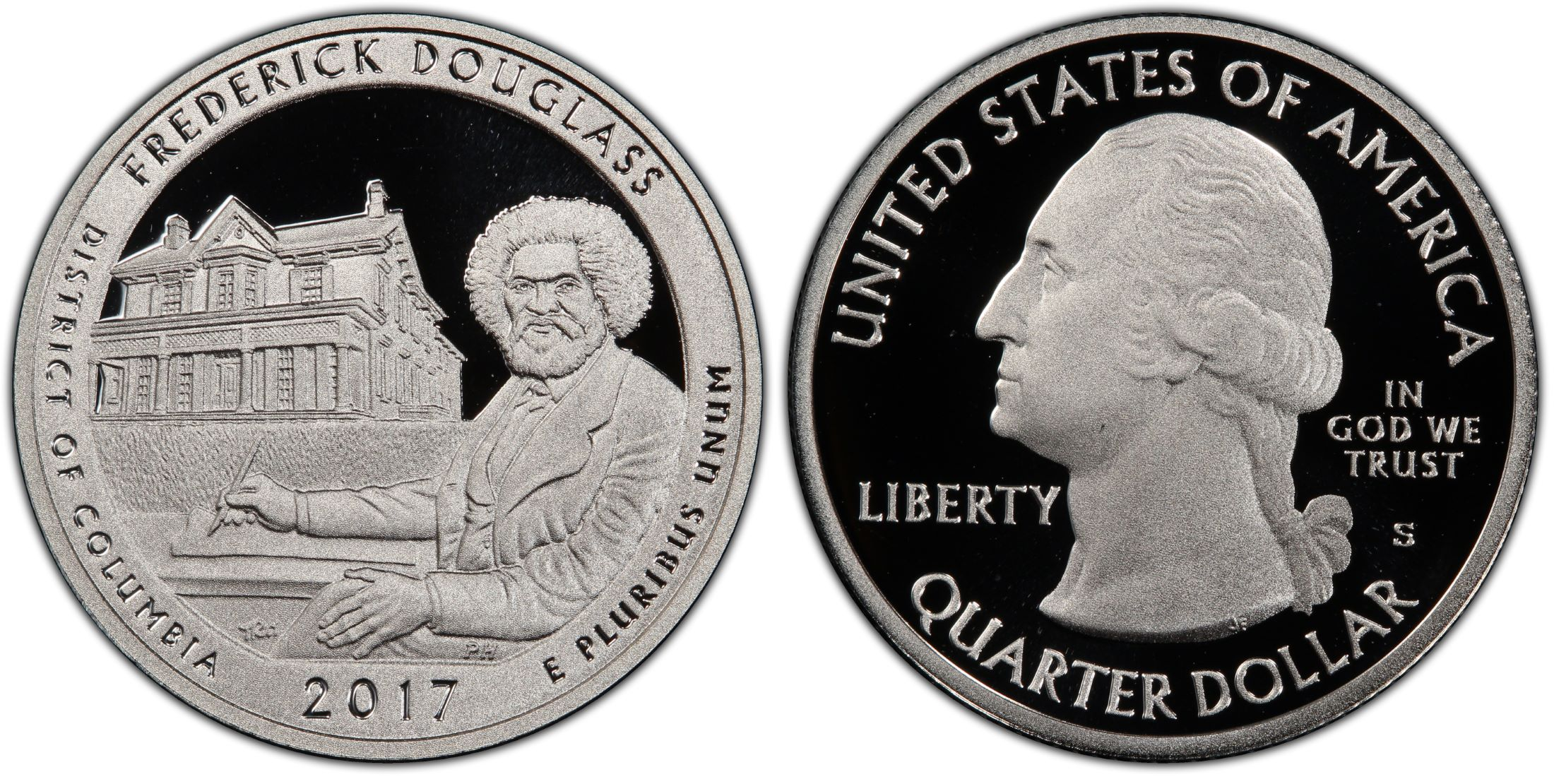 2017 S District of Columbia Quarter ATB Frederick Douglass PROOF Clad