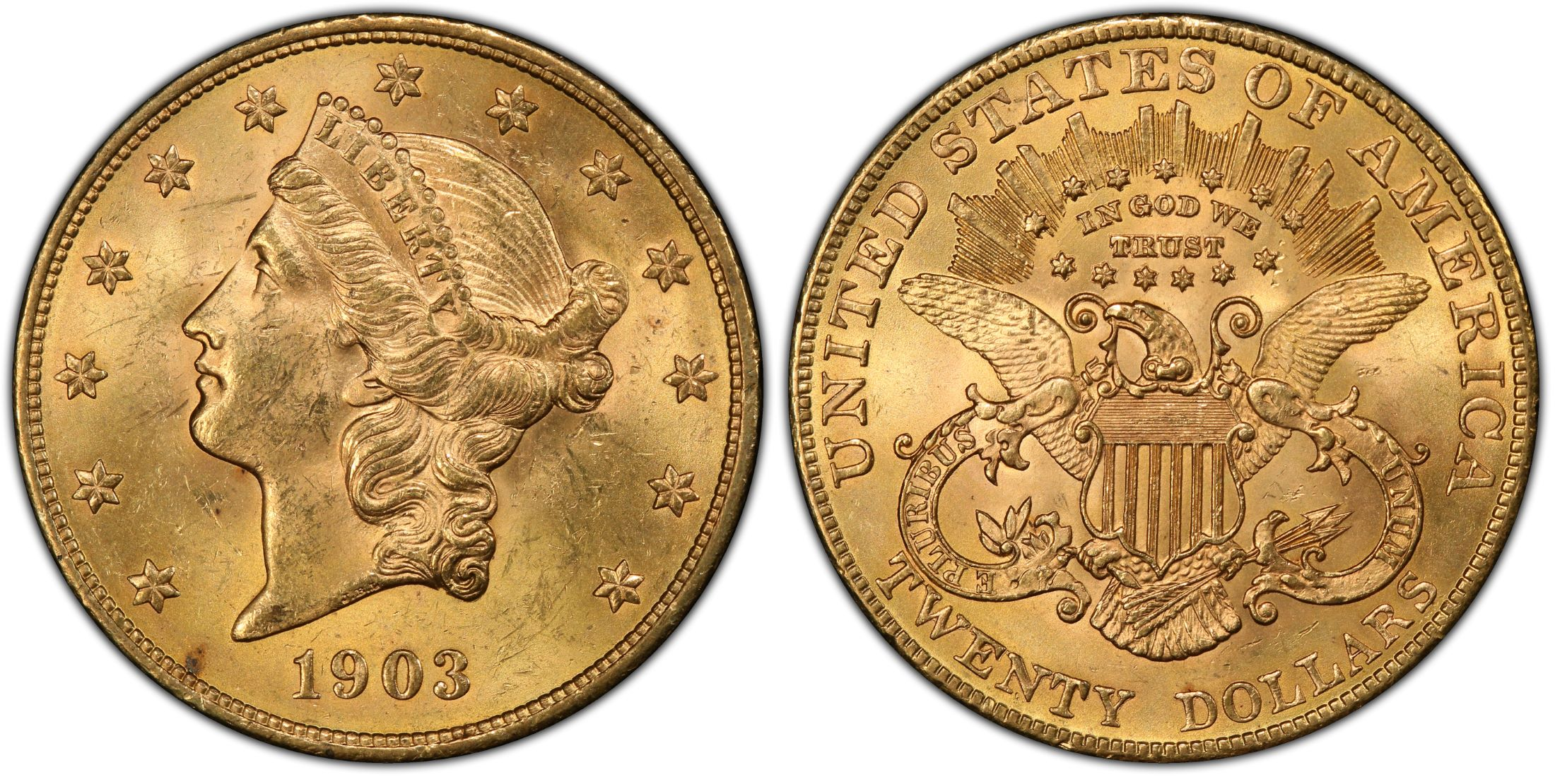 1903 $20 liberty gold coin