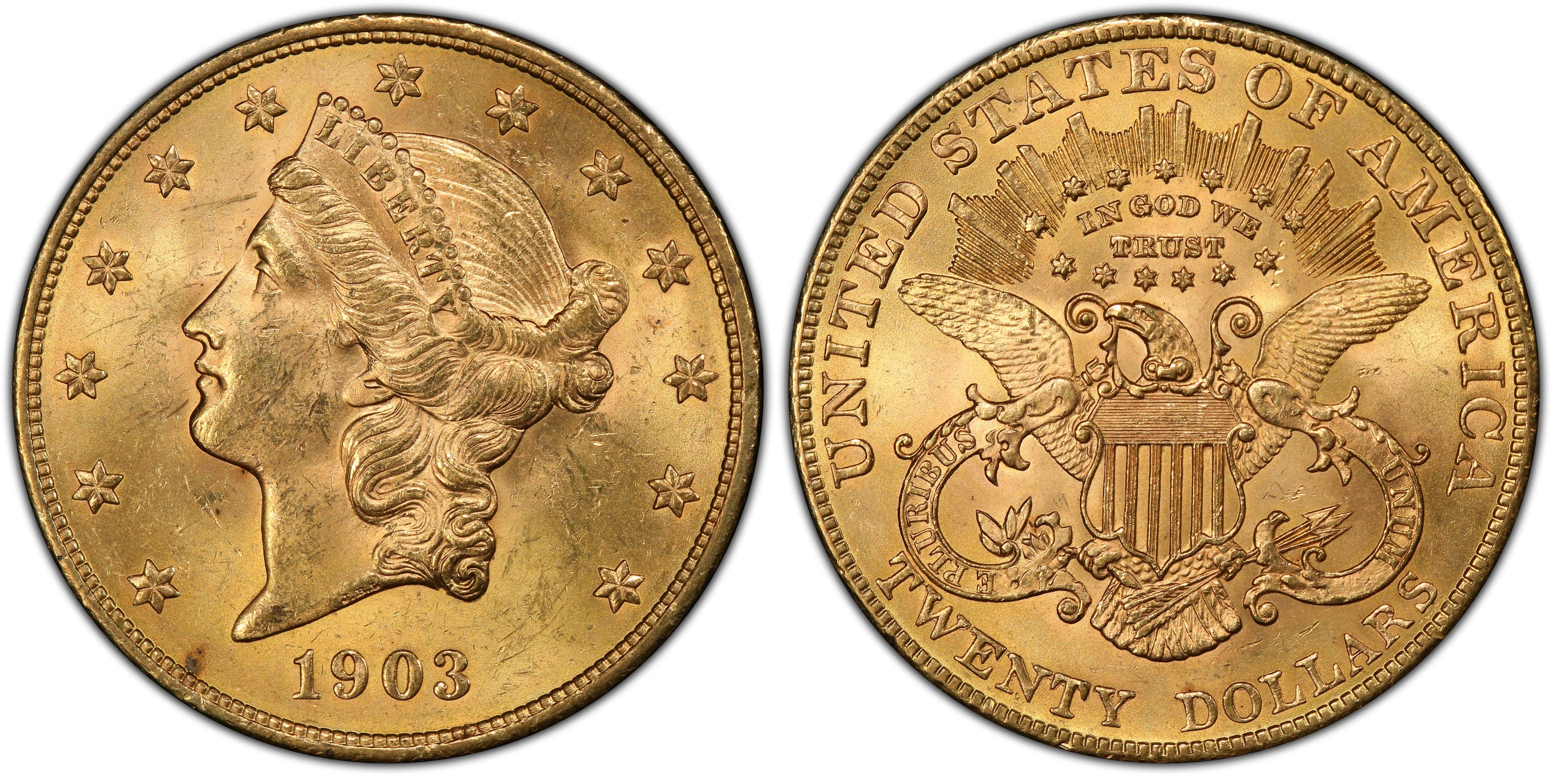1903 $20 liberty gold coin