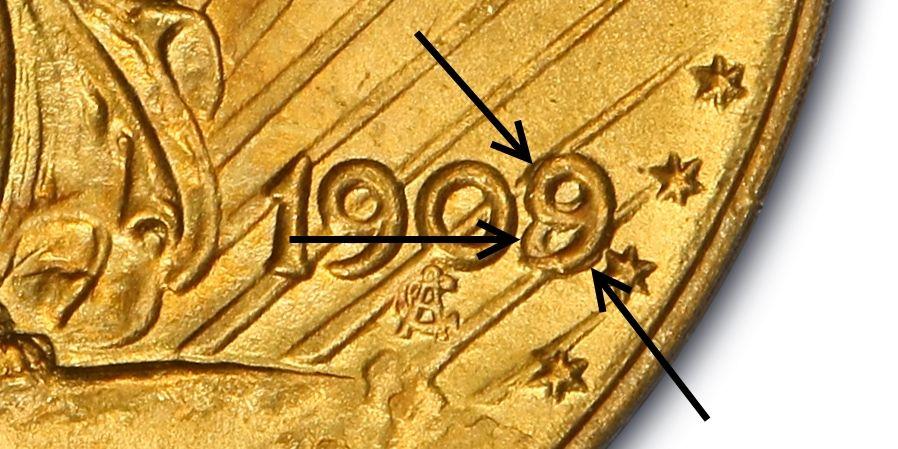 Closeup of 1909/8 $20