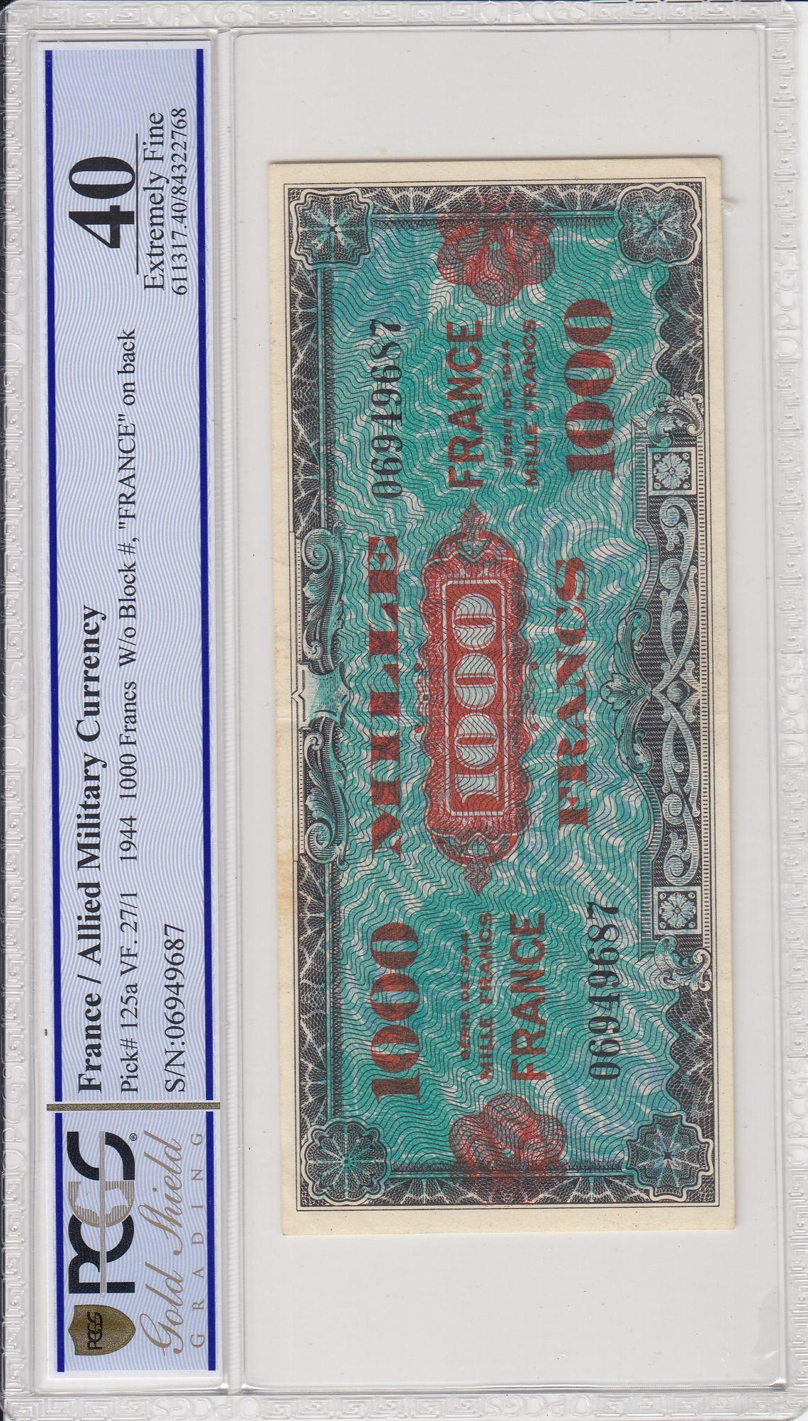 Cert 84322768 - Banknote Obverse