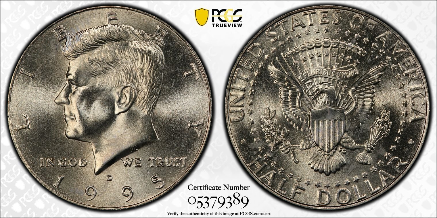 PCGS MS67 2015-D John F Kennedy Presidential Dollar Position A Gem Uncirculated