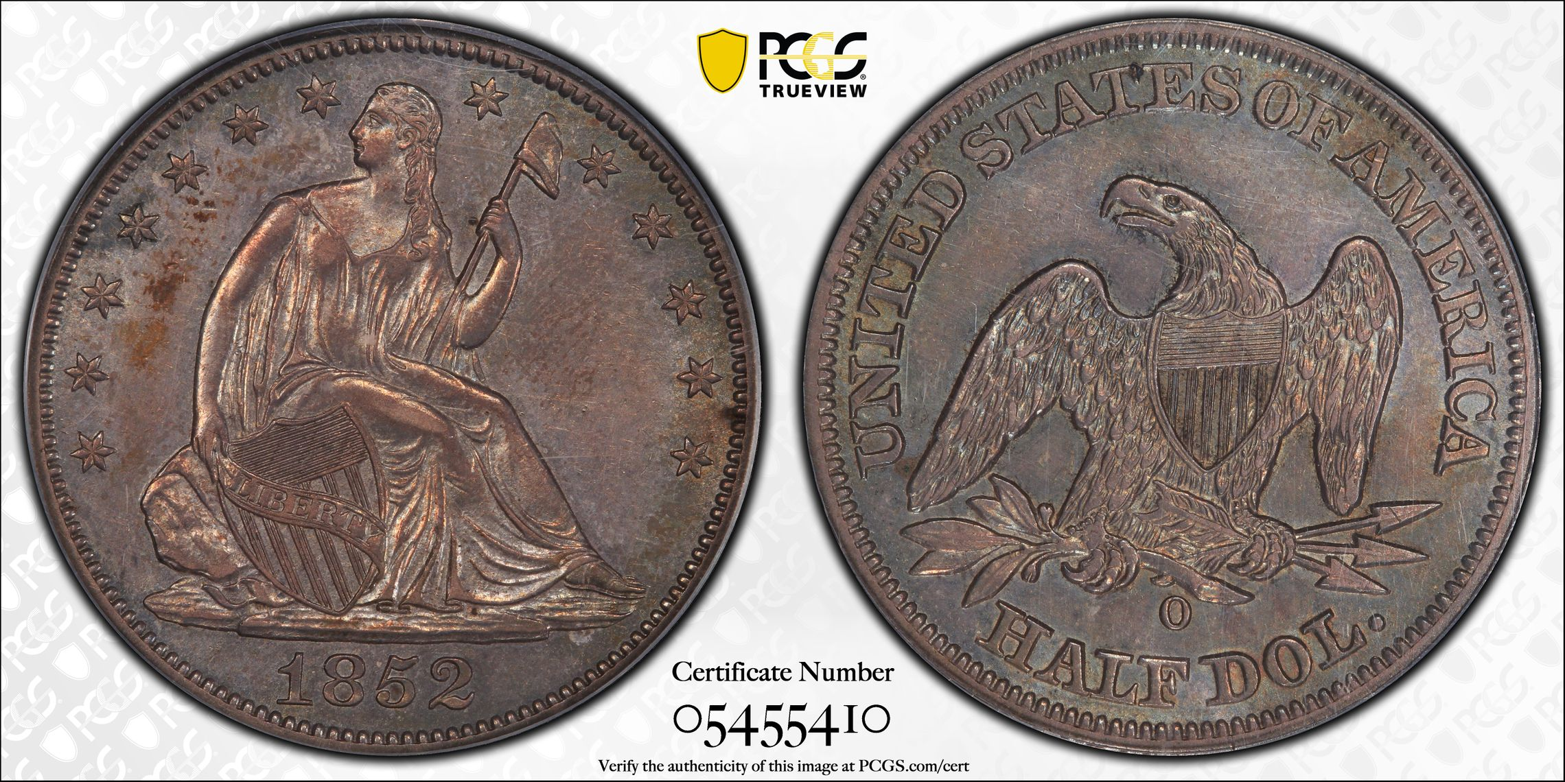 GFRC Open Set Registry - J B N 1852 Seated  50C