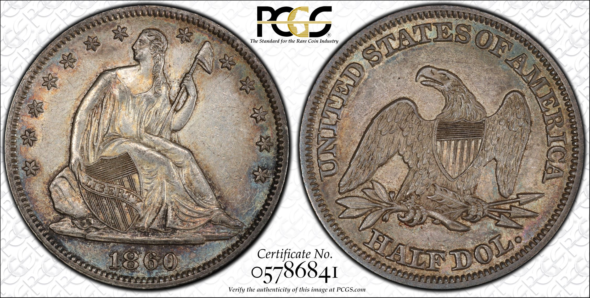 GFRC Open Set Registry - J B N 1860 Seated  50C