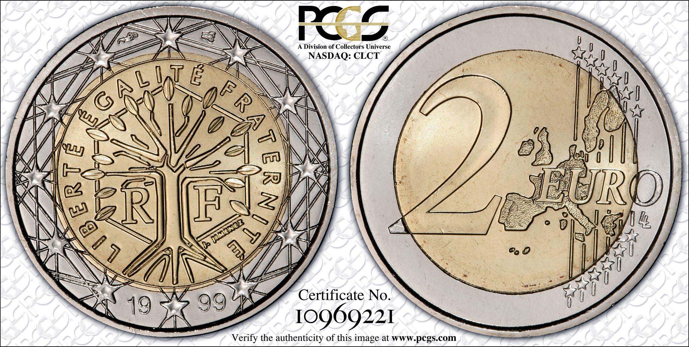 PCGS Set Registry: 1999 € 2 #10969221