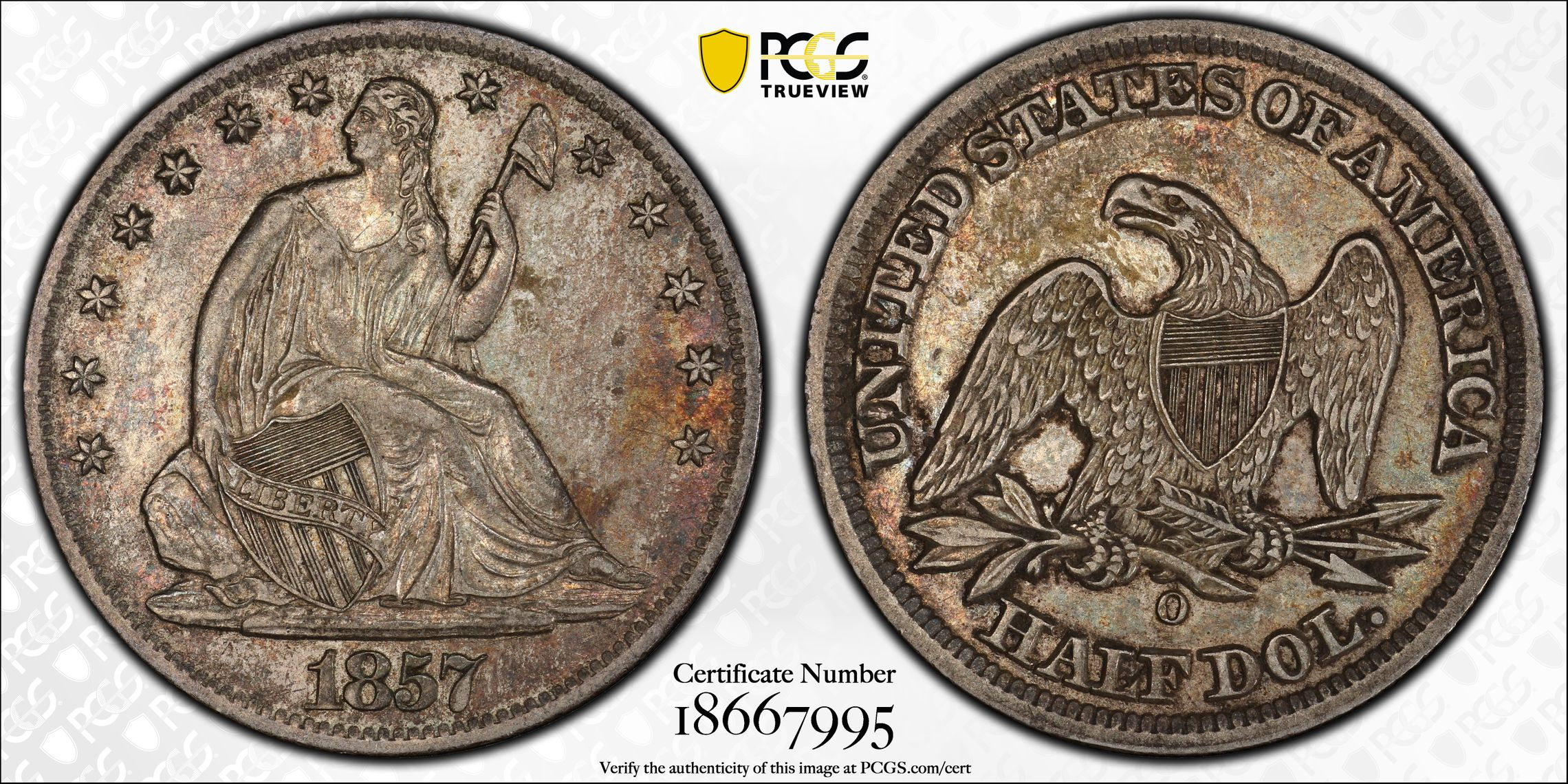GFRC Open Set Registry - J B N 1857 Seated  50C
