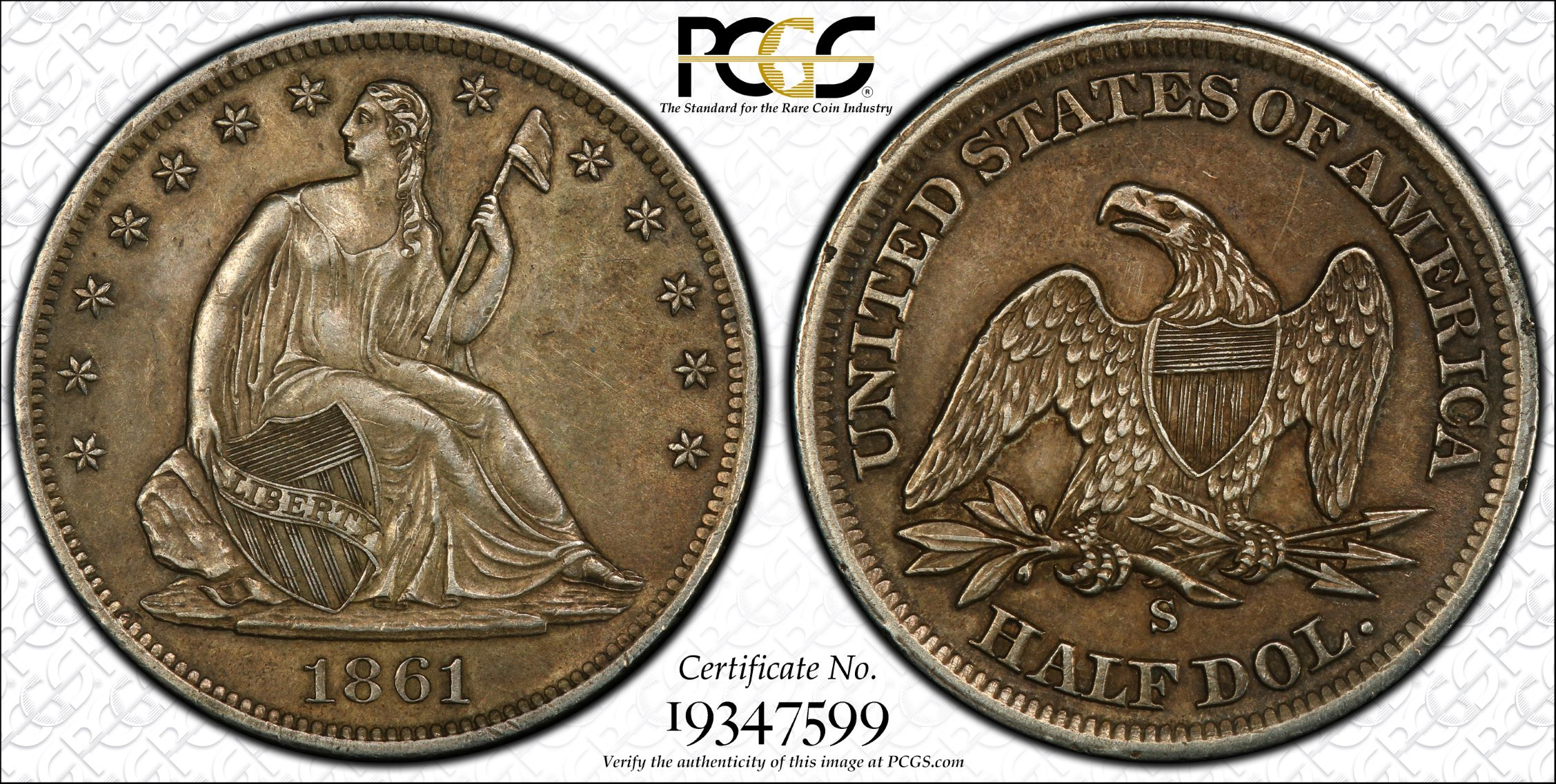 GFRC Open Set Registry - J B N 1861 Seated  50C