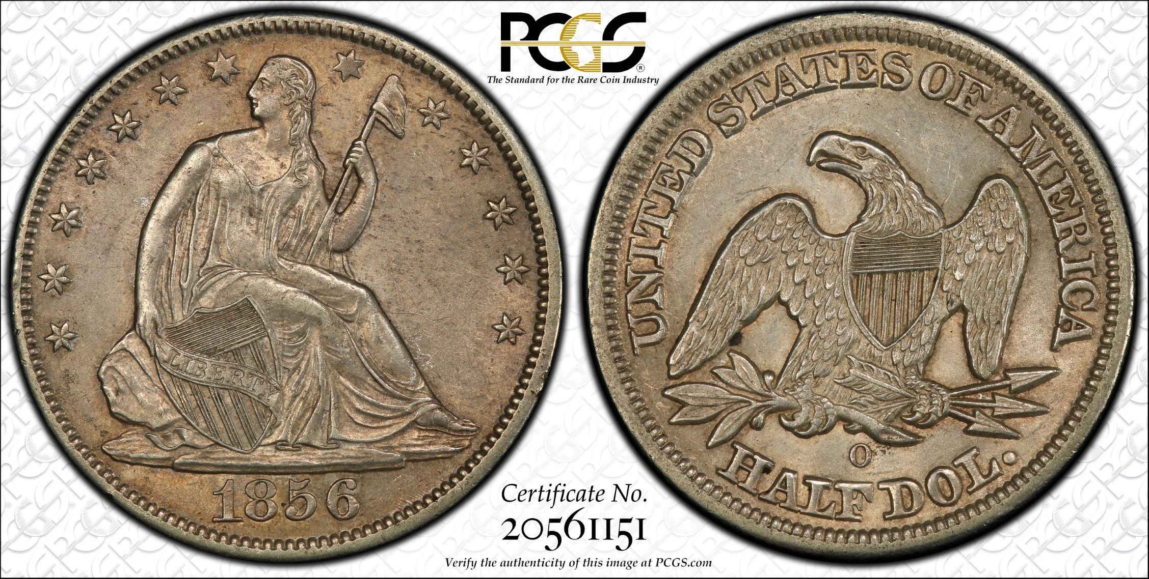 GFRC Open Set Registry - J B N 1856 Seated  50C