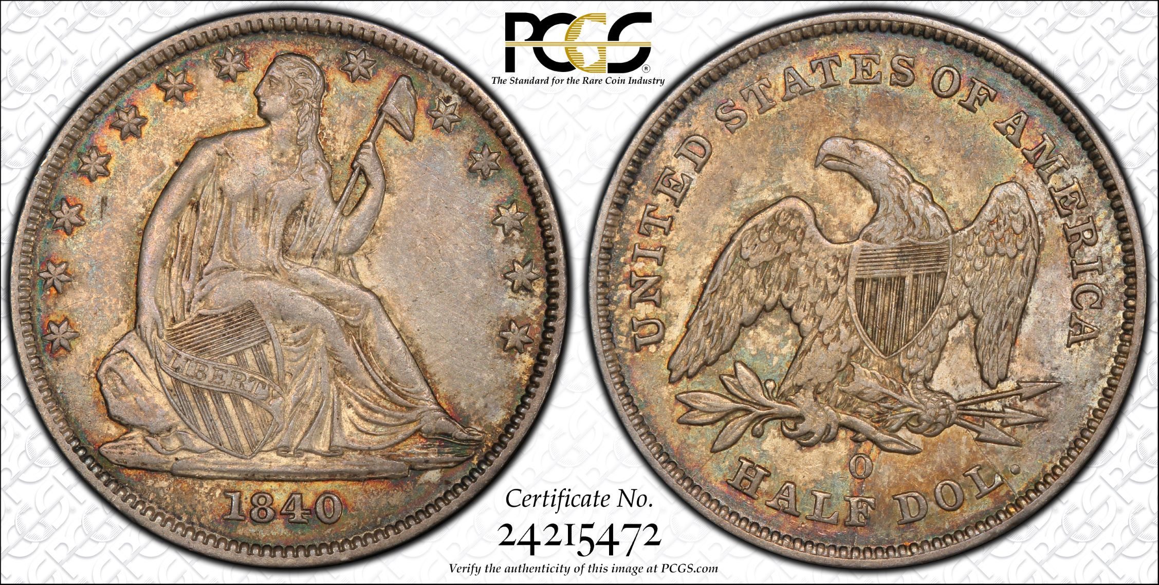 GFRC Open Set Registry - J B N 1840 Seated  50C