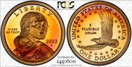 2003-S SAC$1  PR68DCAM