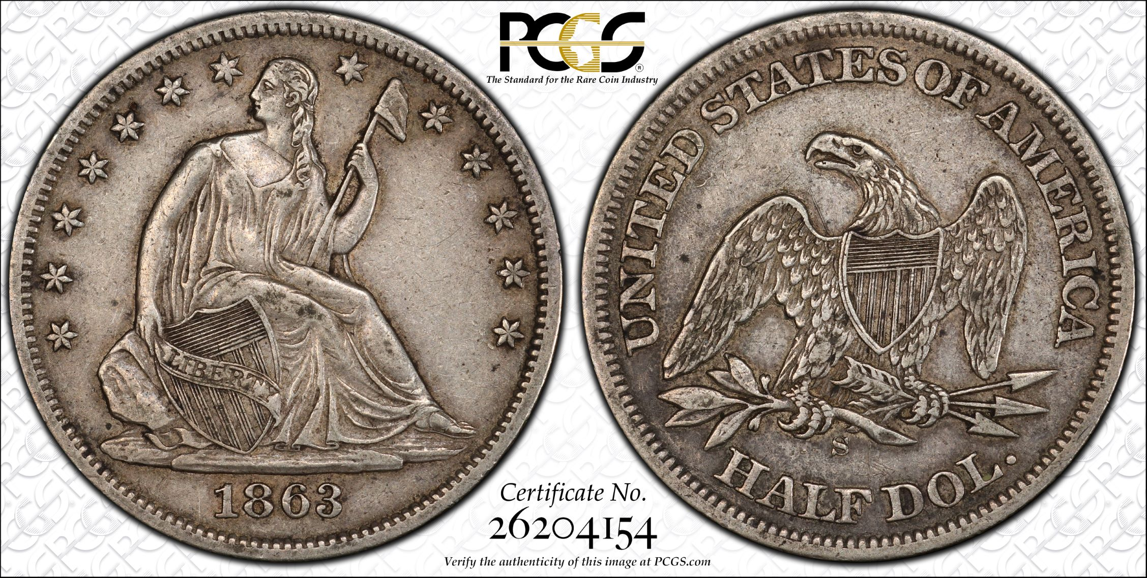 GFRC Open Set Registry - J B N 1863 Seated  50C