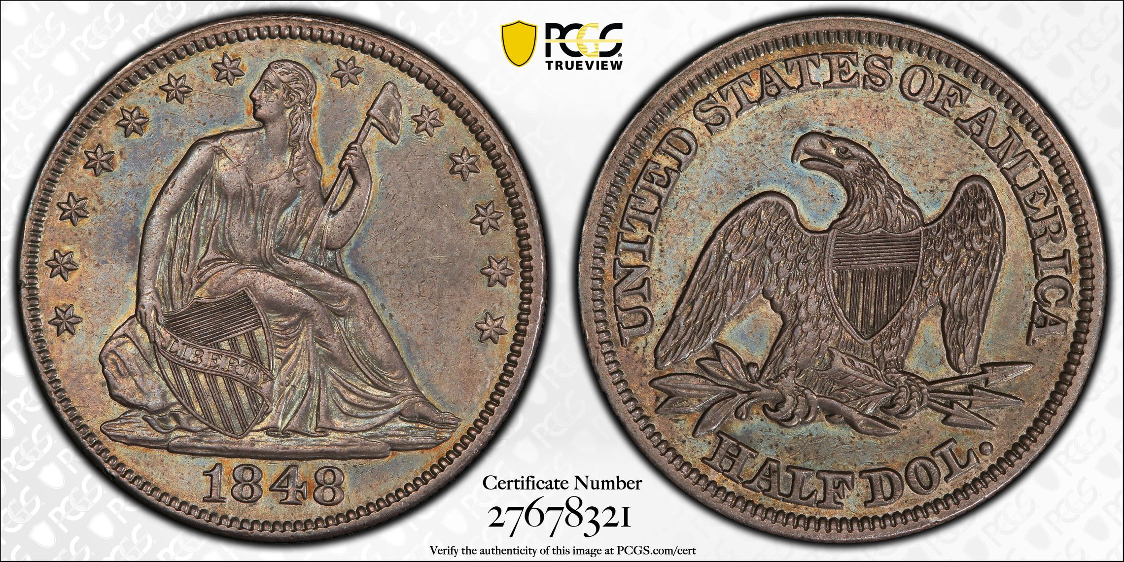 GFRC Open Set Registry - J B N 1848 Seated  50C