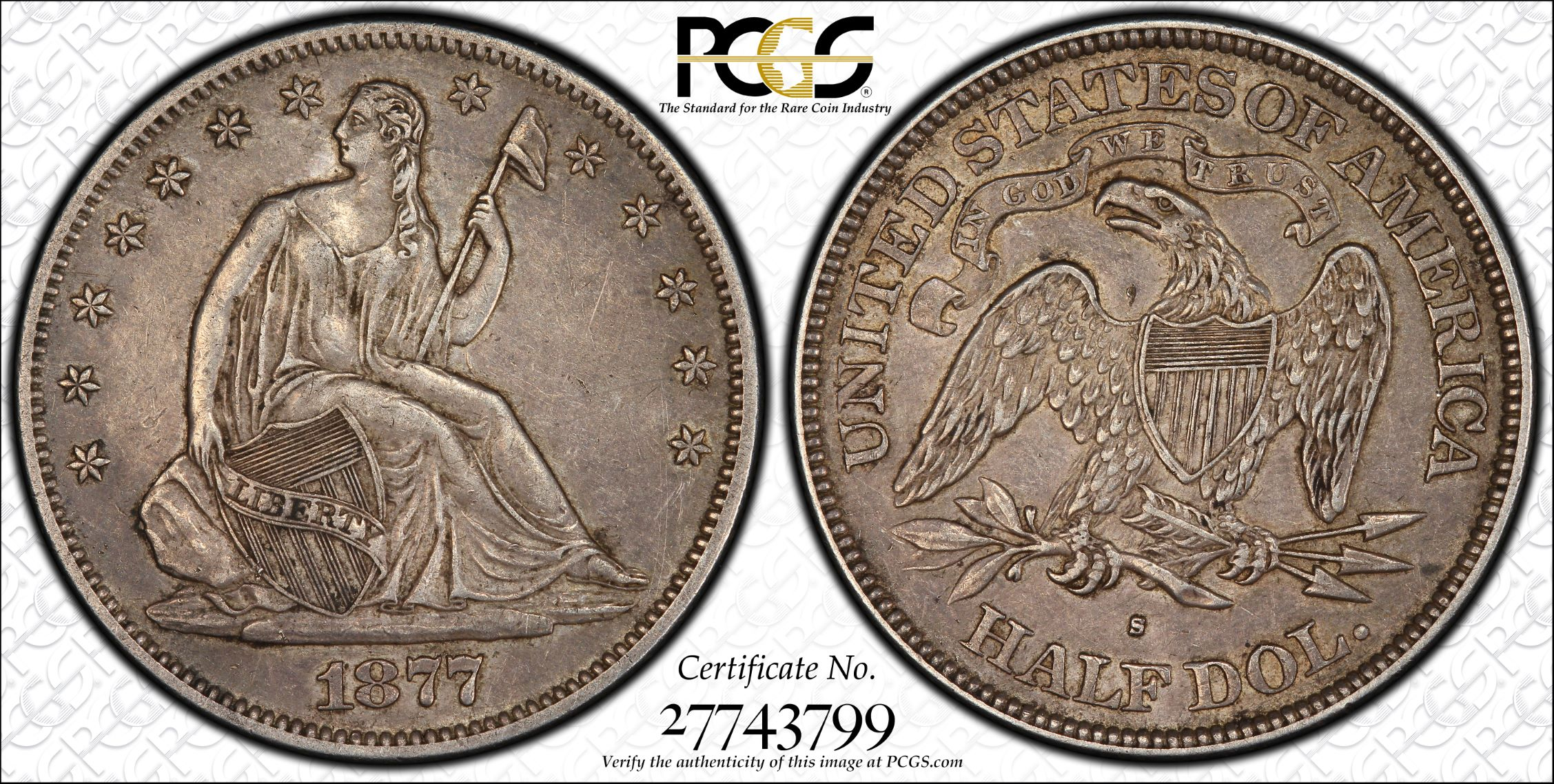 GFRC Open Set Registry - J B N 1877 Seated  50C