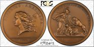 1983 Medal Libertas Americana Bronze - Copy of Orig Design MS68BN