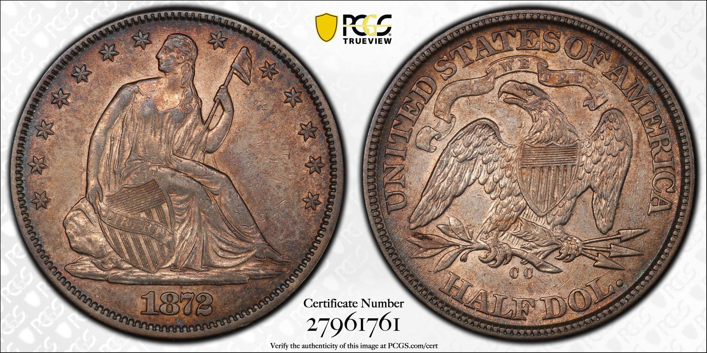 GFRC Open Set Registry - J B N 1872 Seated  50C
