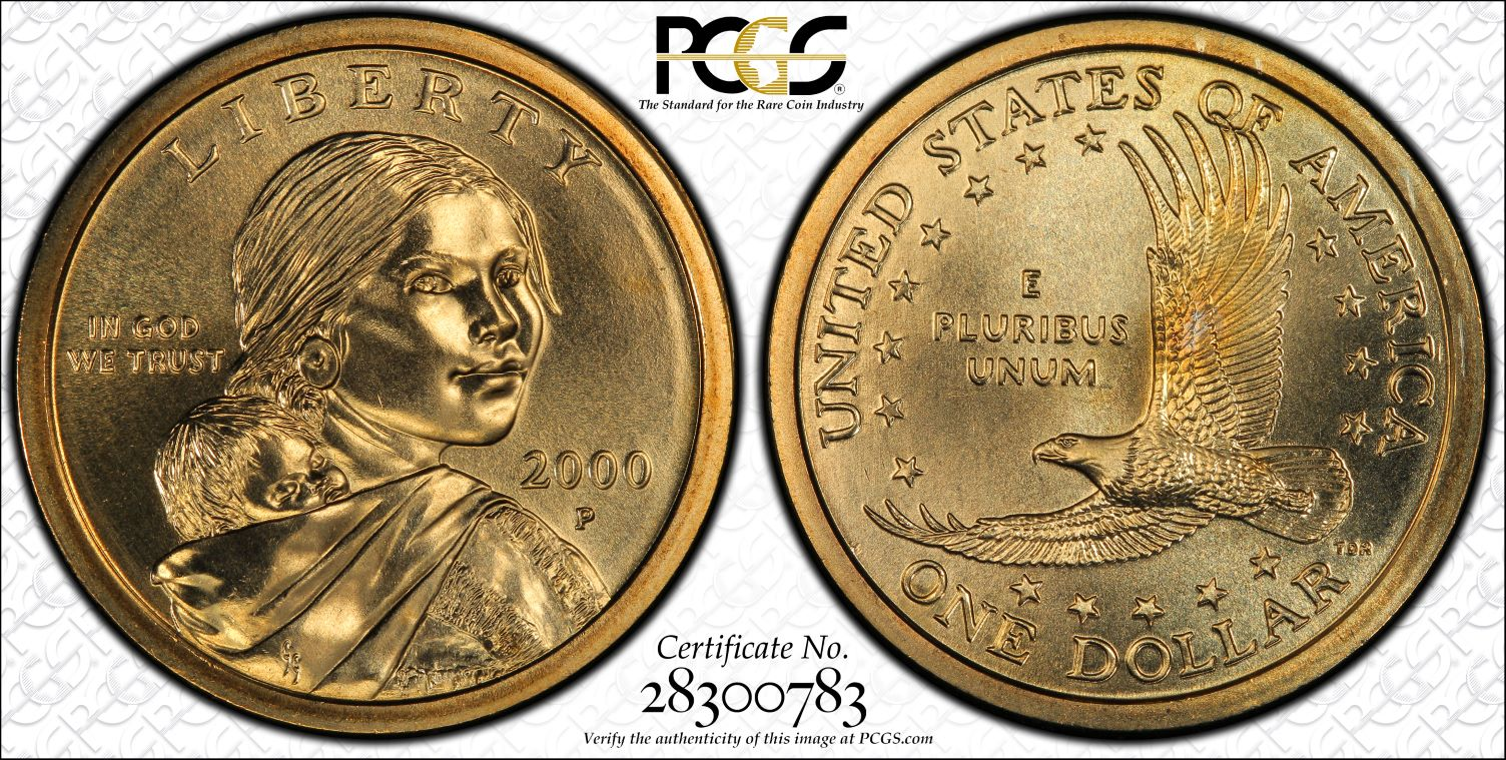 "2011-P Native American /""Sacagawea/"" Dollar from Original Bank Roll"