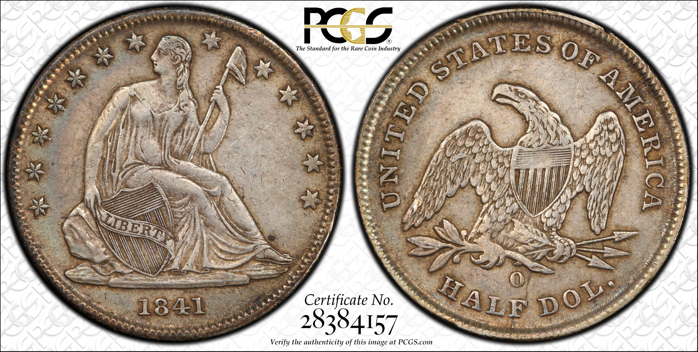 GFRC Open Set Registry - J B N 1841 Seated  50C