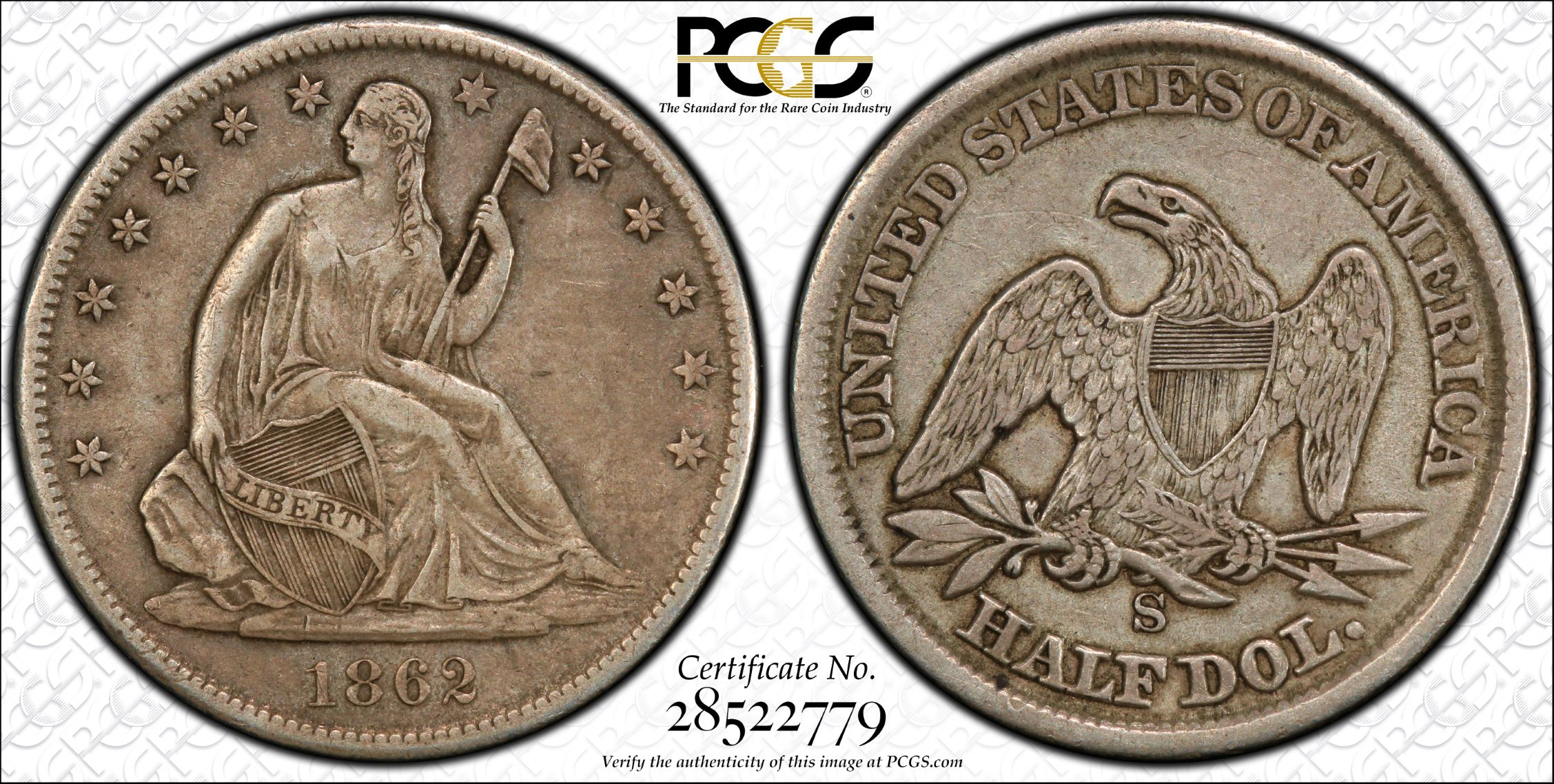 GFRC Open Set Registry - J B N 1862 Seated  50C