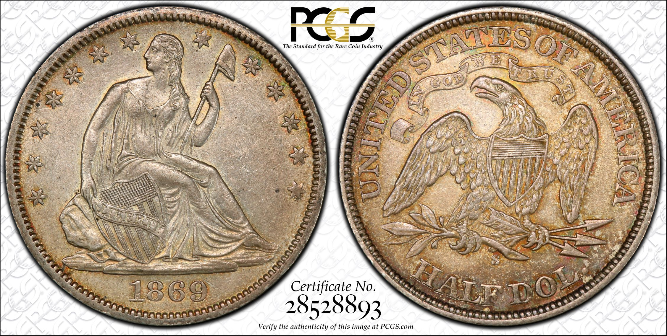 GFRC Open Set Registry - J B N 1869 Seated  50C