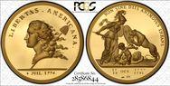 (1776) Medal Libertas Americana Gold - 2004 Restrike PR69DCAM