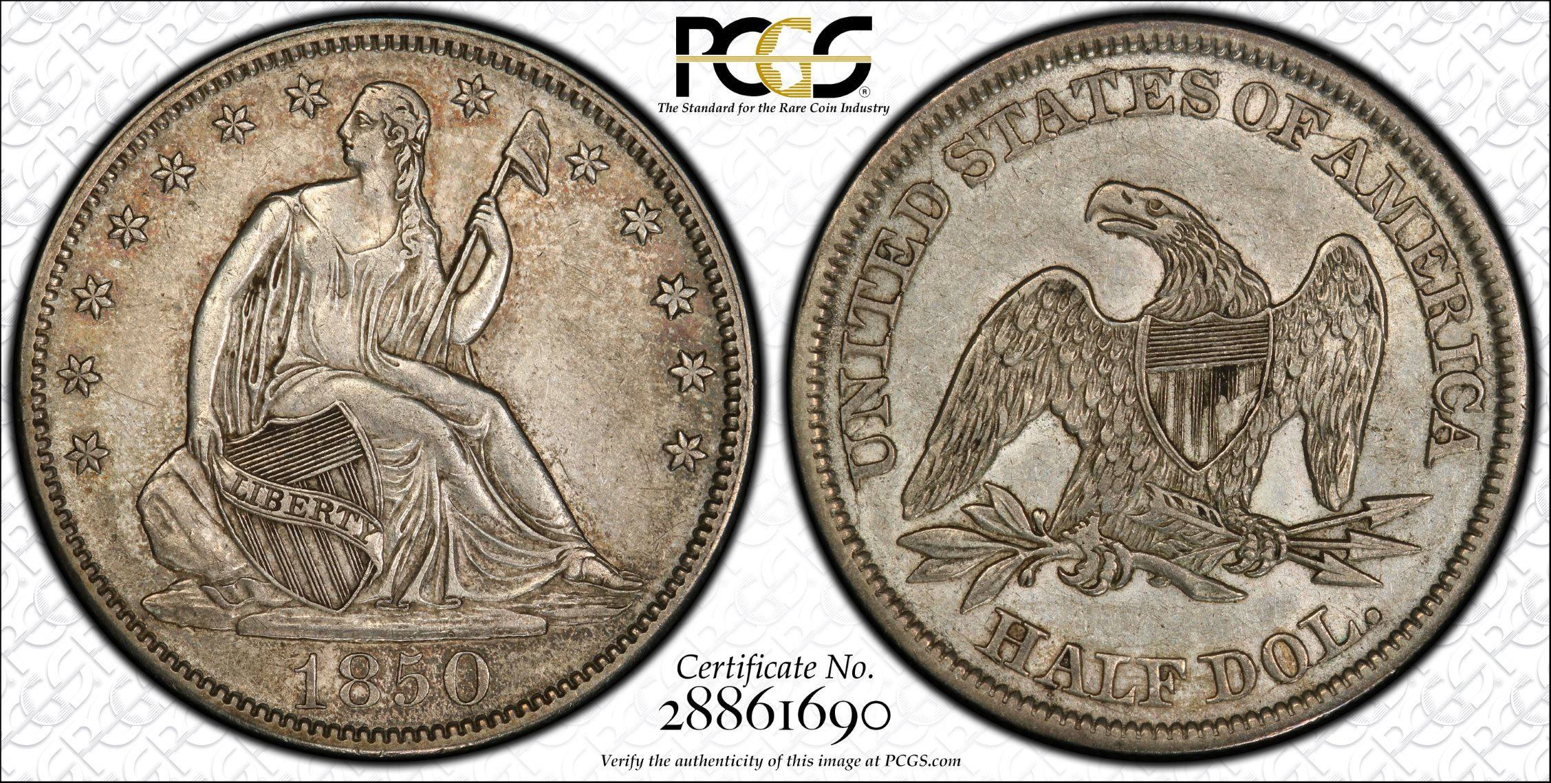 GFRC Open Set Registry - J B N 1850 Seated  50C