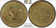 (1876) Token Pa-Ph 502 Brass MS64