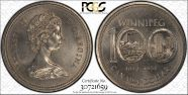 1974 $1 Winnipeg - Single Yoke MS65
