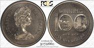1974 $1 Winnipeg - Single Yoke MS64