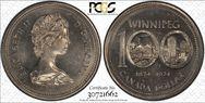 1974 $1 Winnipeg - Single Yoke MS66