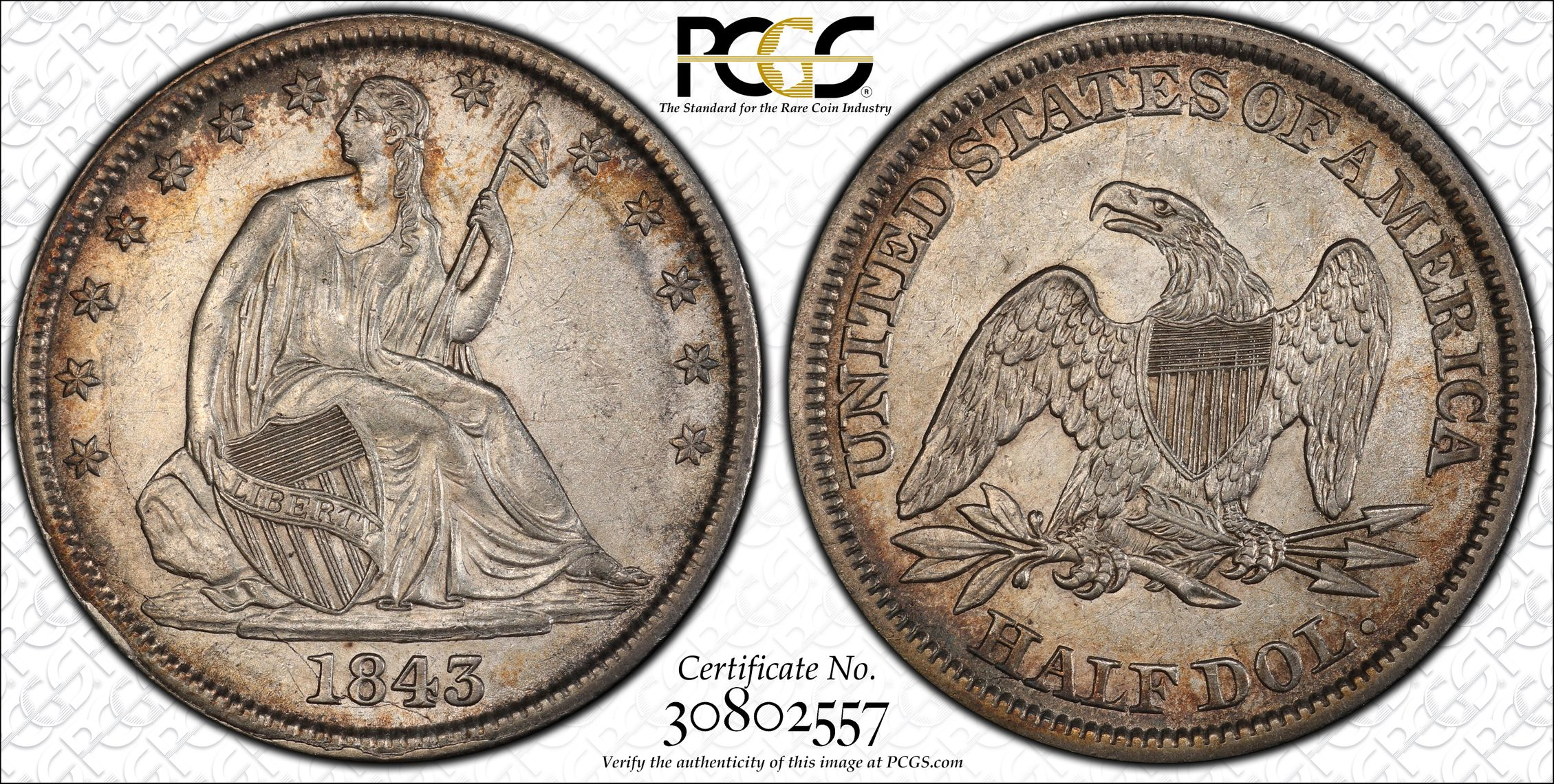 GFRC Open Set Registry - J B N 1843 Seated  50C