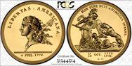 (1776) Medal Libertas Am. Gold, 2014 Restrike 5 oz PR70DCAM