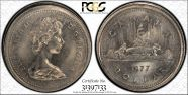 1977 $1 Voyageur AU58