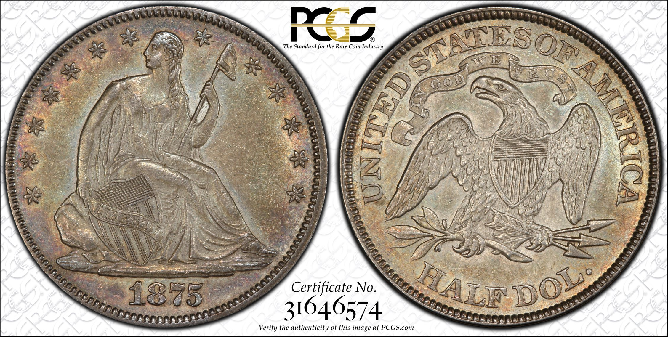 GFRC Open Set Registry - J B N 1875 Seated  50C