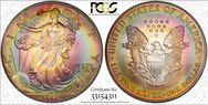 1998 $1 Silver Eagle MS67