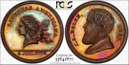 (1867) Token Ma-Sp 43 Copper MS66RB