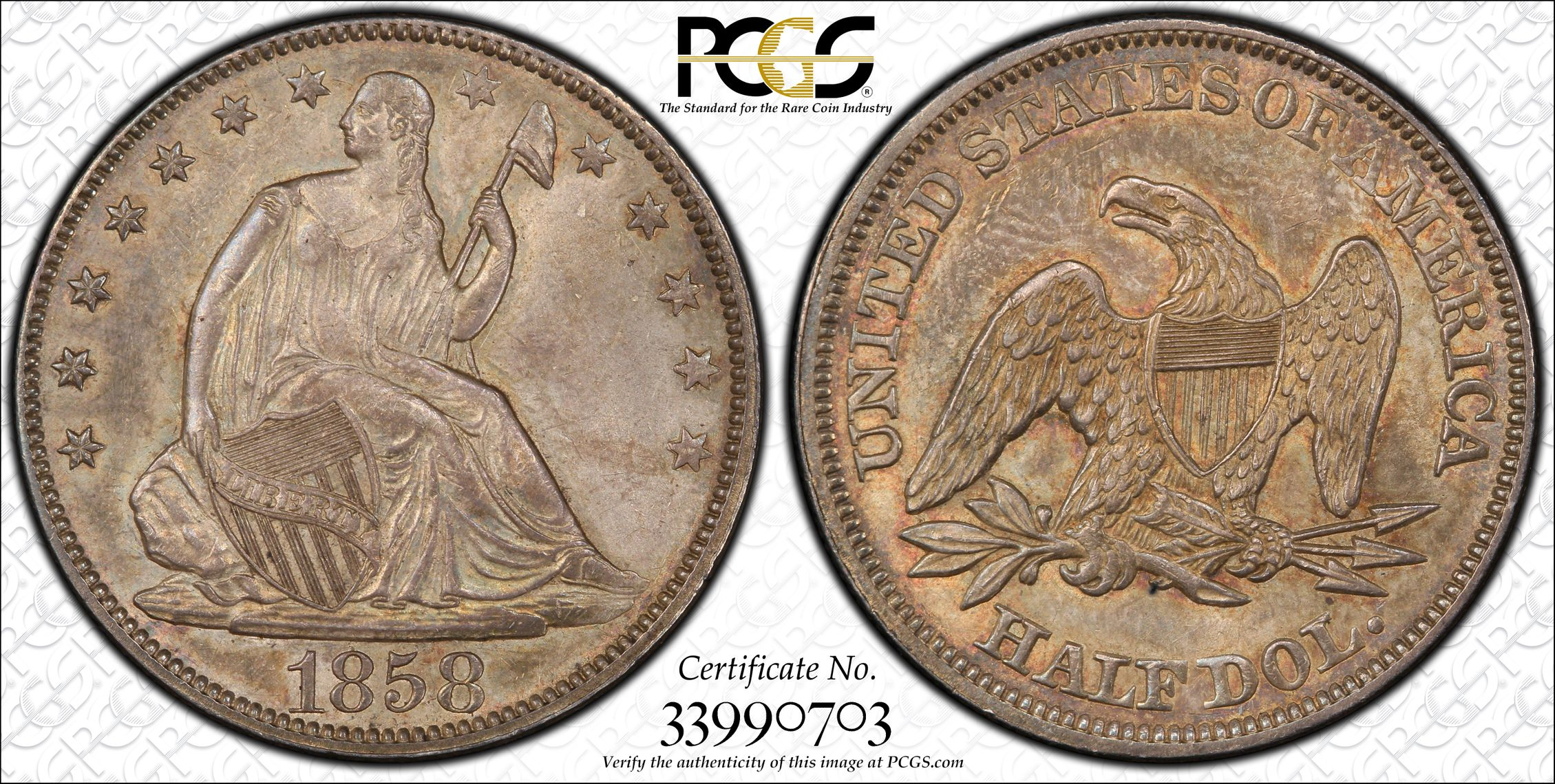 GFRC Open Set Registry - J B N 1858 Seated  50C