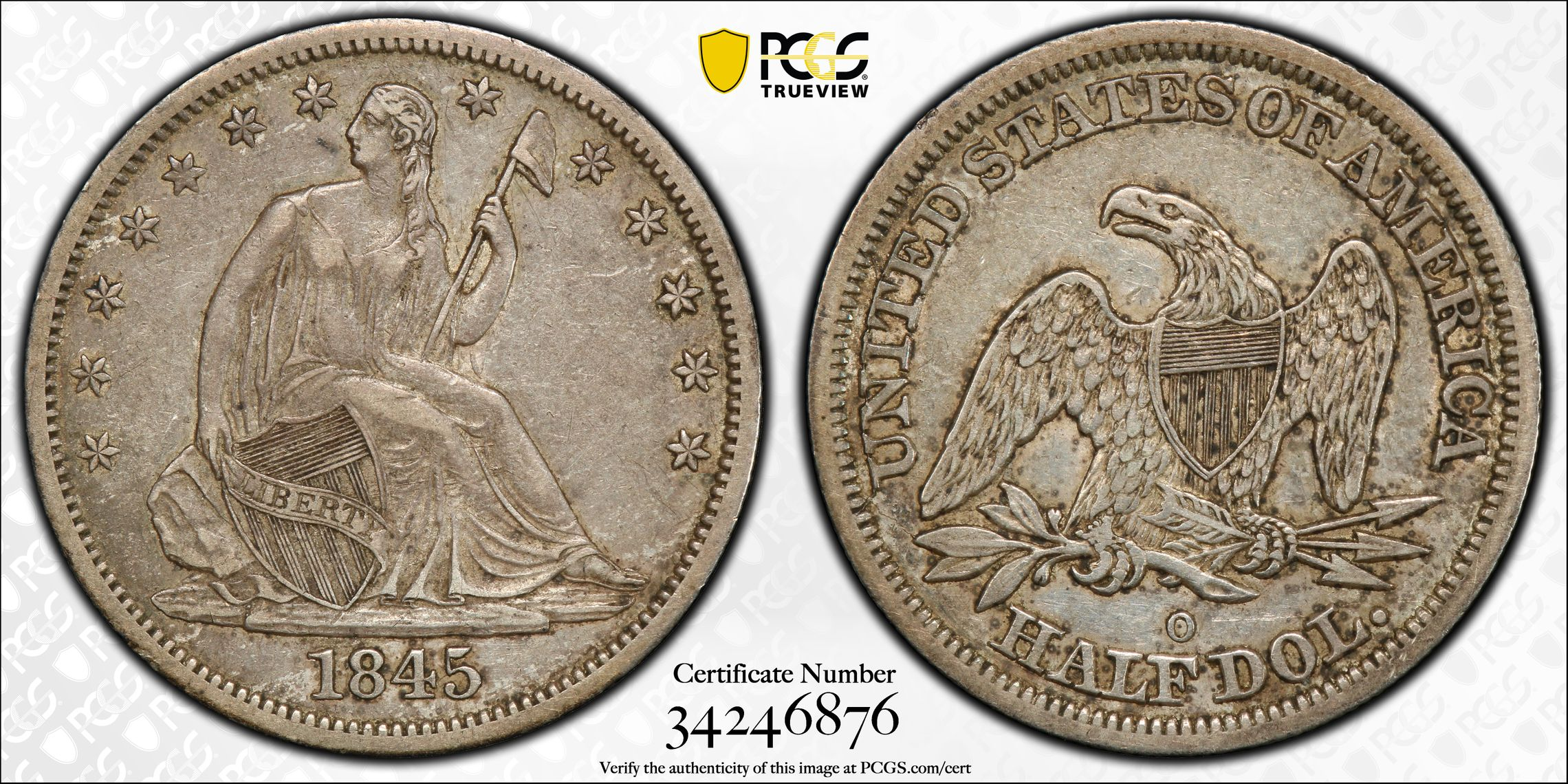 GFRC Open Set Registry - J B N 1845 Seated  50C
