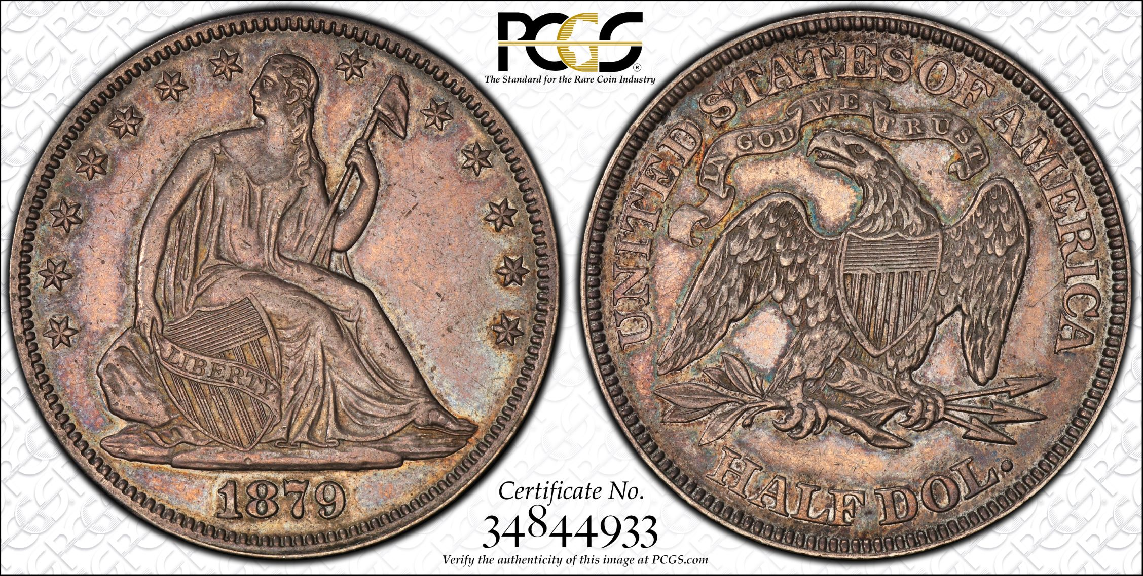GFRC Open Set Registry - J B N 1879 Seated  50C