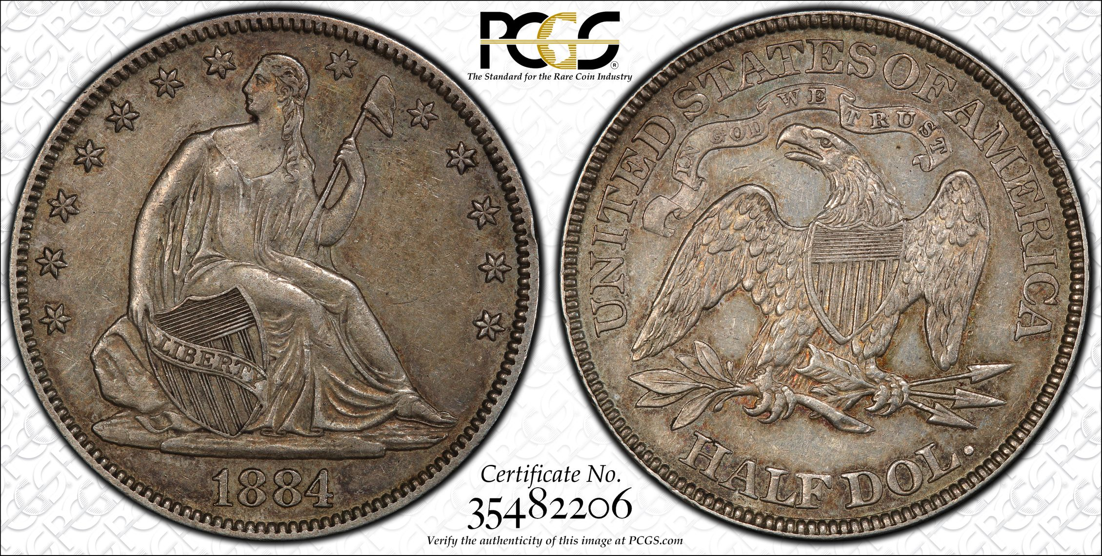 GFRC Open Set Registry - J B N 1884 Seated  50C