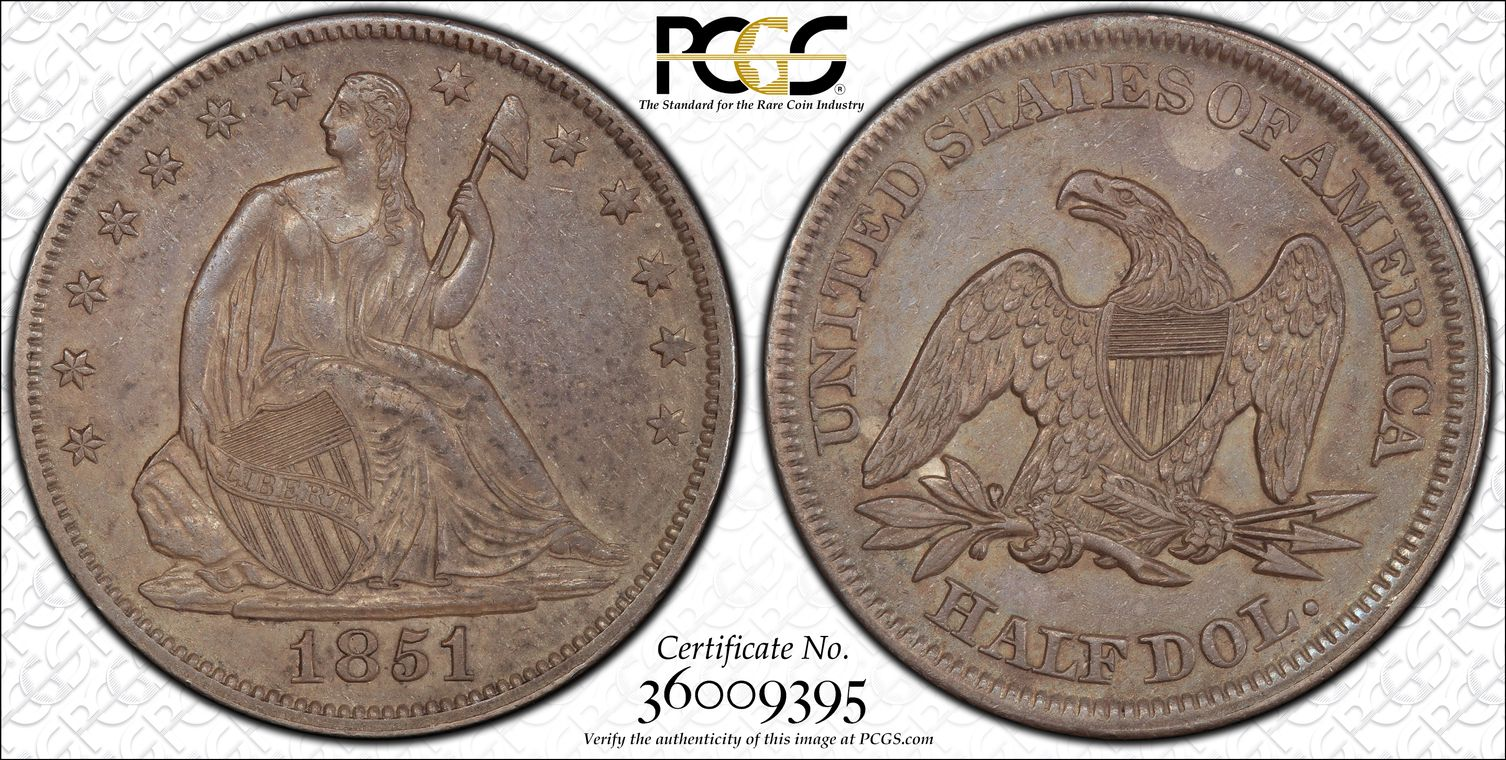 GFRC Open Set Registry - Seal Beach 1851 Seated  50C