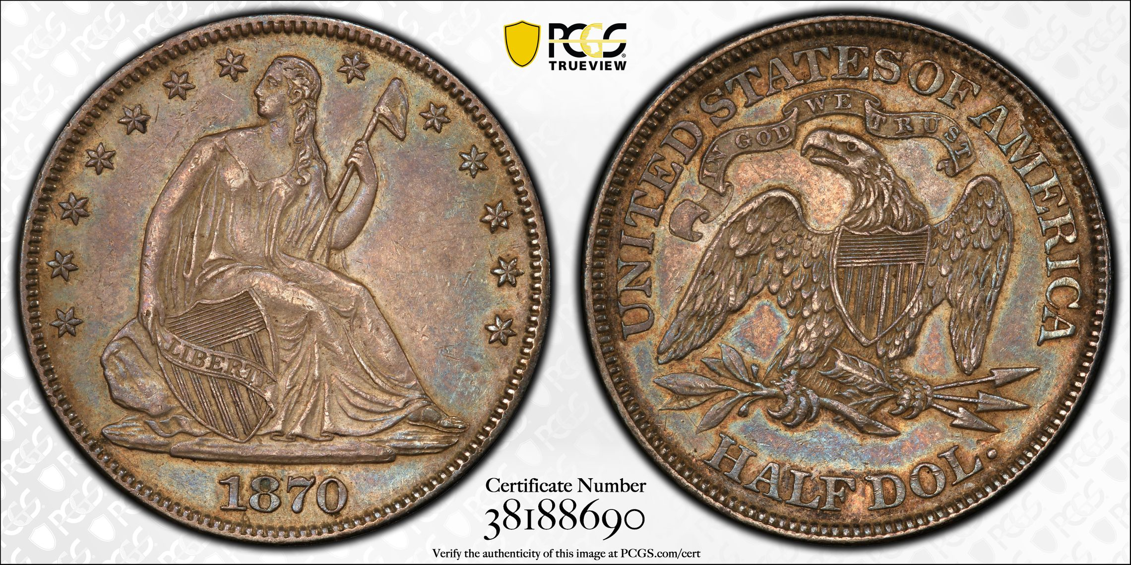 GFRC Open Set Registry - J B N 1870 Seated  50C