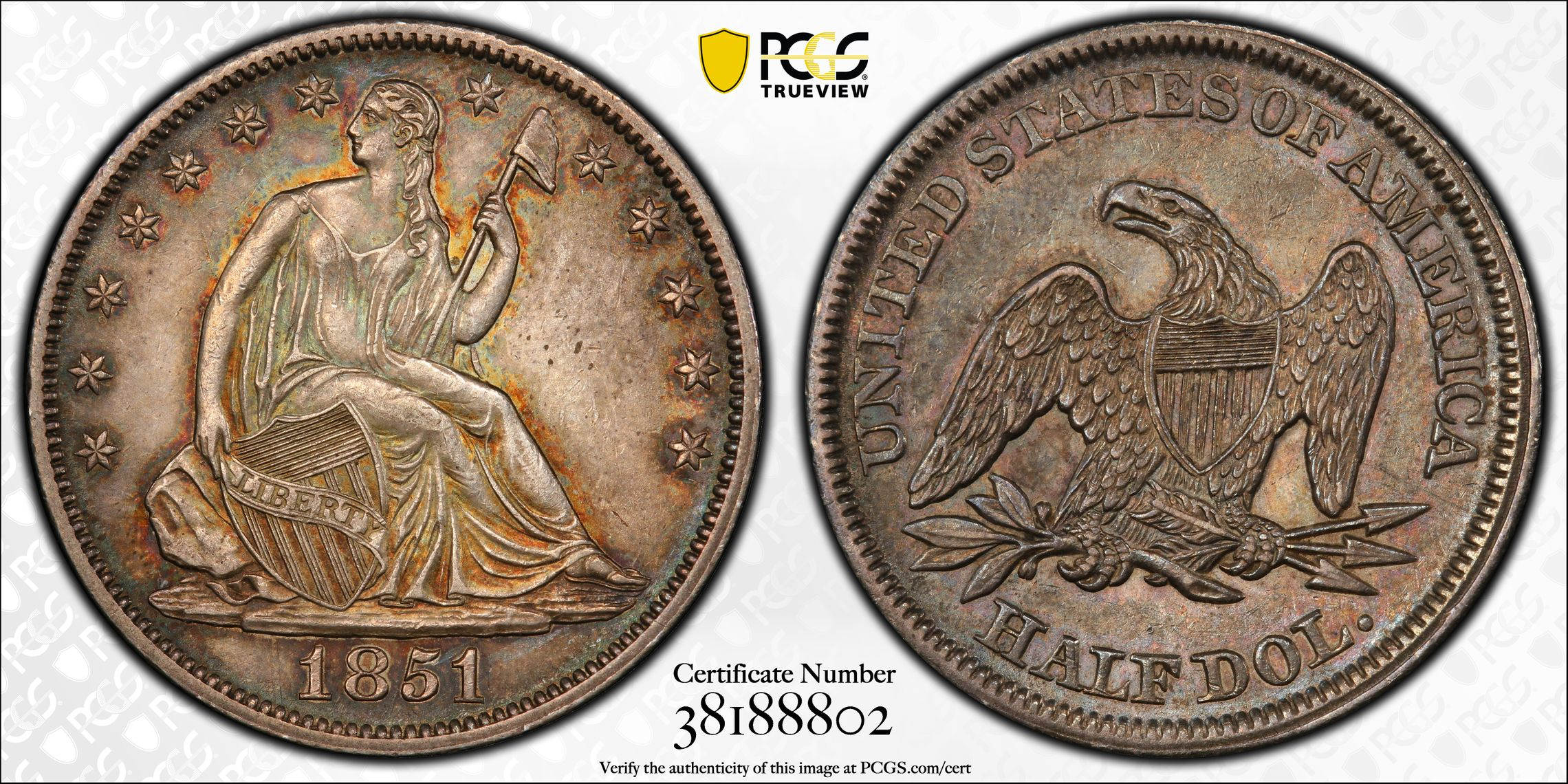 GFRC Open Set Registry - J B N 1851 Seated  50C