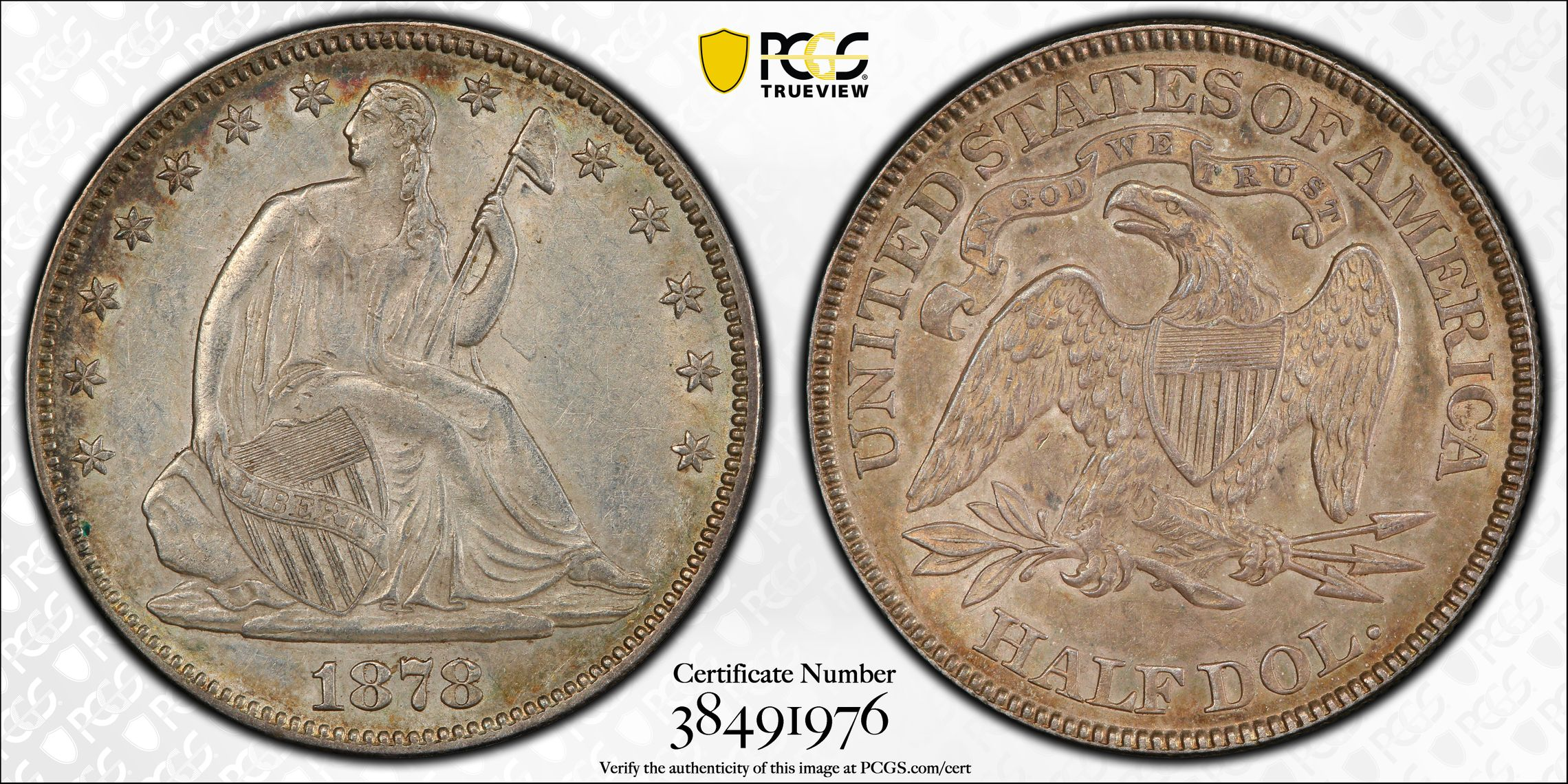 GFRC Open Set Registry - J B N 1878 Seated  50C
