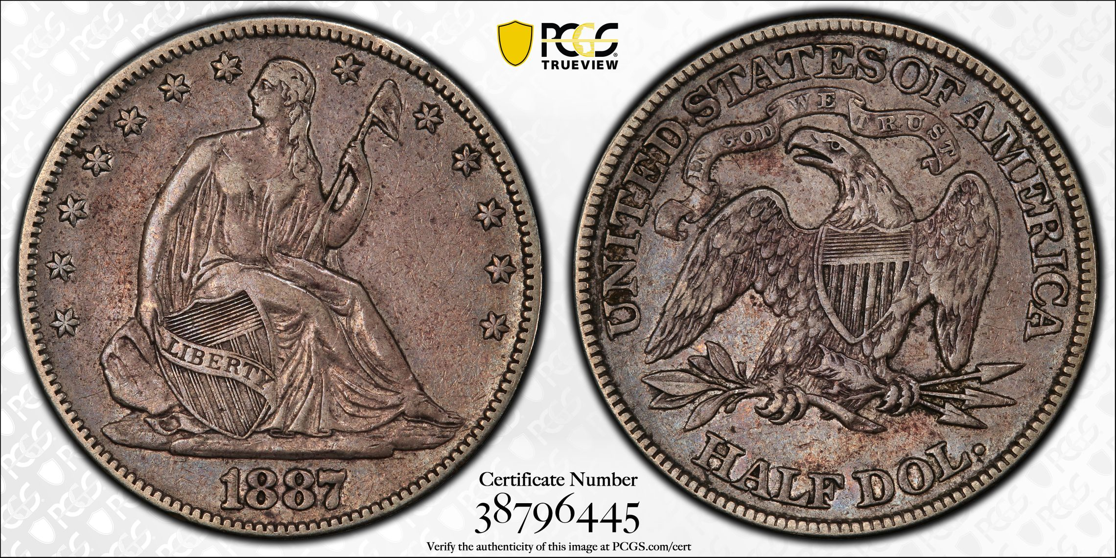 GFRC Open Set Registry - J B N 1887 Seated  50C