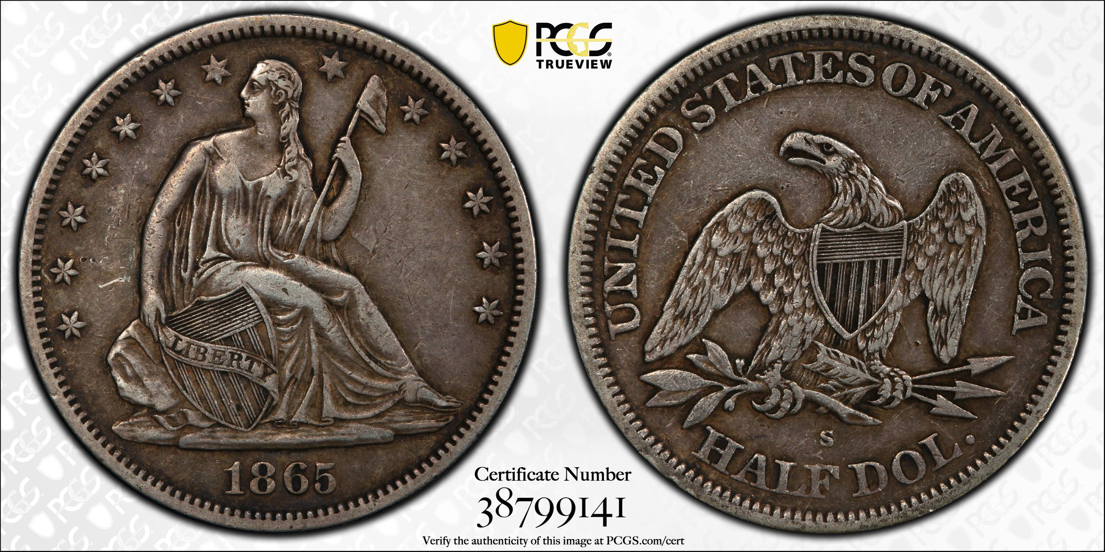GFRC Open Set Registry - J B N 1865 Seated  50C