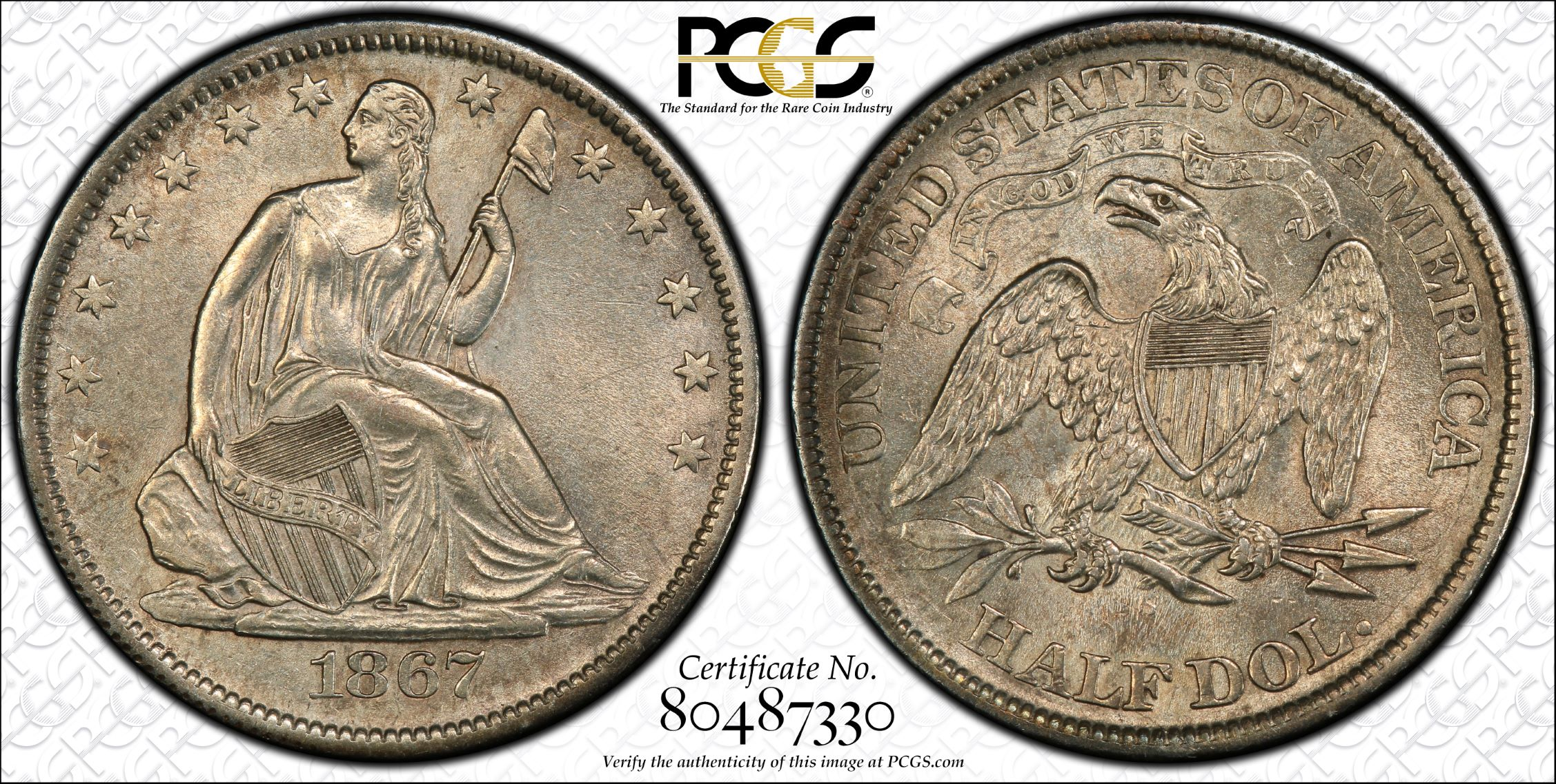 GFRC Open Set Registry - J B N 1867 Seated  50C