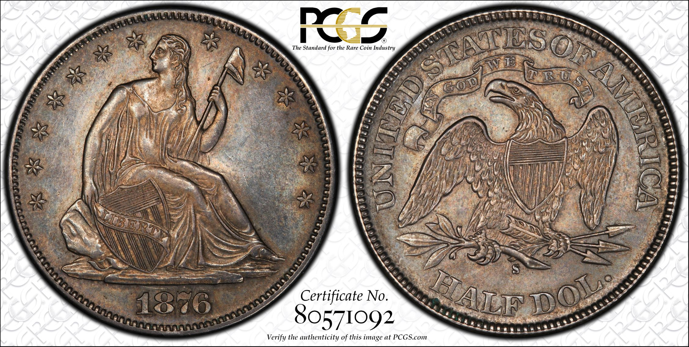GFRC Open Set Registry - J B N 1876 Seated  50C
