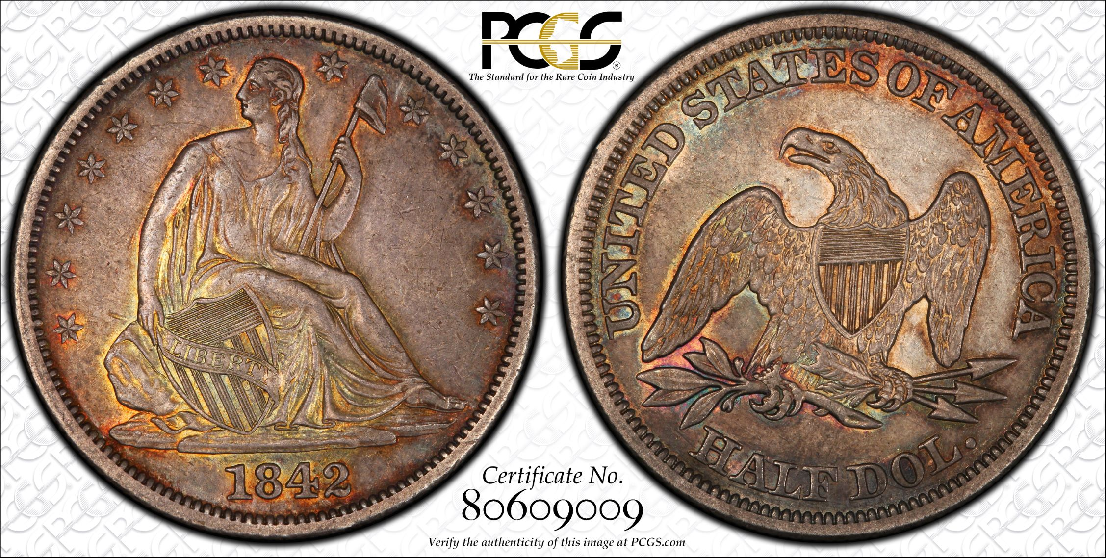 GFRC Open Set Registry - J B N 1842 Seated  50C