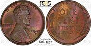 1945-S 1C  MS65BN
